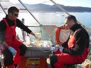 Laurent et Patrick filtrent plancton