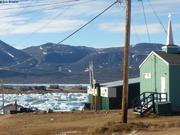 Glaces derivantes a Qikiqtarjuaq mi-septembre