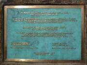 Plaque commemorative Grise Fiord