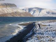 Plage fjord Grise
