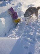 Aurore explore les crevasses