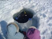 Plongee dans trou de phoque agrandi