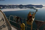 Au mouillage de l'autre cote du fjord