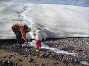 Lessive au pied du glacier