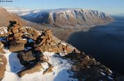Grise Fiord depuis le mont Greenlander