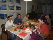 Repas de fete chez nos hotes polonais a Toronto