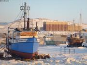 Bateaux en hivernage a Iqaluit
