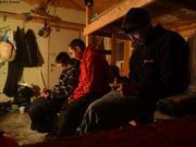 Dans cabane Hourglass Bay