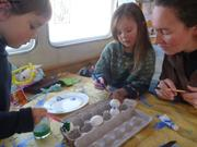 Peinture sur oeufs de Paques