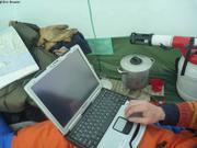 Sauvegarde donnees sous la tente