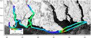 Ice thickness from Grise Fiord to Hourglass Bay