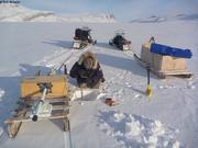 Percer la banquise pour calibrer glaciometre