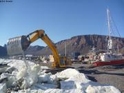Degagement des glaces avant remise a l'eau de Vagabond