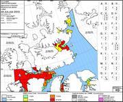 Carte des glaces au depart de Grise Fiord pour Thule