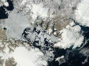 Vue satellite region de Grise Fiord 30 juillet 2013