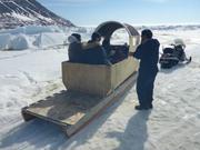 Jeffrey transporte groupe vers glacier ©EB