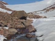 Extremite du glacier Grise Fiord lors de la fonte des neiges ©EB