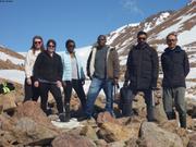 Petit groupe international qui voulait voir le glacier de Grise Fiord ©EB