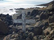 Tombe du pere de Larry Audlaluk proche ancien village ©EB