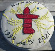 Gateau de Laisa pour concours Nunavut Day ©EB