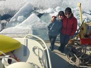 Leonie et France dans les glaces ©EB