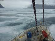 La glace nous barre la sortie du fjord Grise ©EB