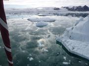 Reflet du ciel entre les glaces de Talbot ©France Pinczon du Sel