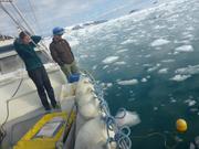 Hydrophone enregistre sons icebergs et glaciers ©EB