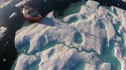 Vagabond amarre banquise baie de Talbot ©EB