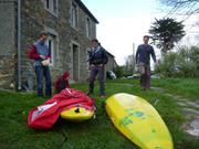 Livraison pulka-kayak Manue et Ghislain