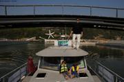 Premier bateau dans la nouvelle place nautique