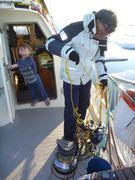 Mise a l'eau haut-parleur sous-marin
