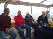 Clive Eric Bob Cristina a bord de Billy Budd