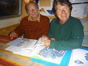Gilbert et Annick examinent itineraire