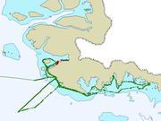 Trajet mission ornitho baie de Melville