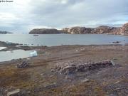 Restes cabane baie Cache