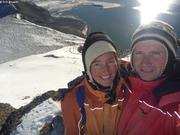 France et Eric sommet Pyramide au-dessus site hivernage 2011-2012
