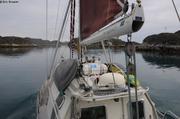 Parcours balise entre les iles