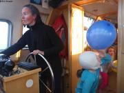 Tandis que Vagabond navigue entre les glaces derivantes