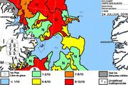 Carte des glaces du 24 juillet 2015