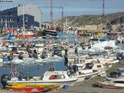 Vagabond a quai a Ilulissat