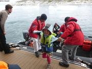 Aurore embarque a bord du Soleal