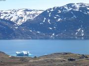 Moutons motoneige et icebergs