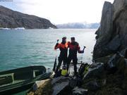 Louis et Eric prets a plonger pour collecte de coralline