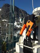 Mer et montagne au printemps au Groenland