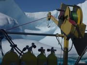 Sur fond de glace
