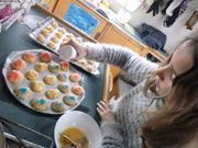 Aurore fait des chouquettes