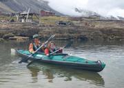 France et Aurore depart de Qeqertarssuaq en kayak