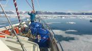 Joie de naviguer dans les glaces