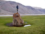 Leonie sur son rocher